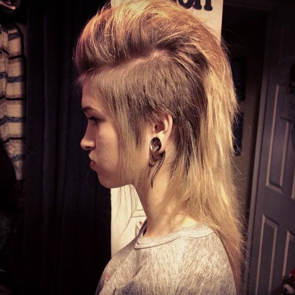 Long Mohawk For Women | Hairstylo Regarding Long Hair Mohawk Hairstyles With Shaved Sides (View 8 of 25)