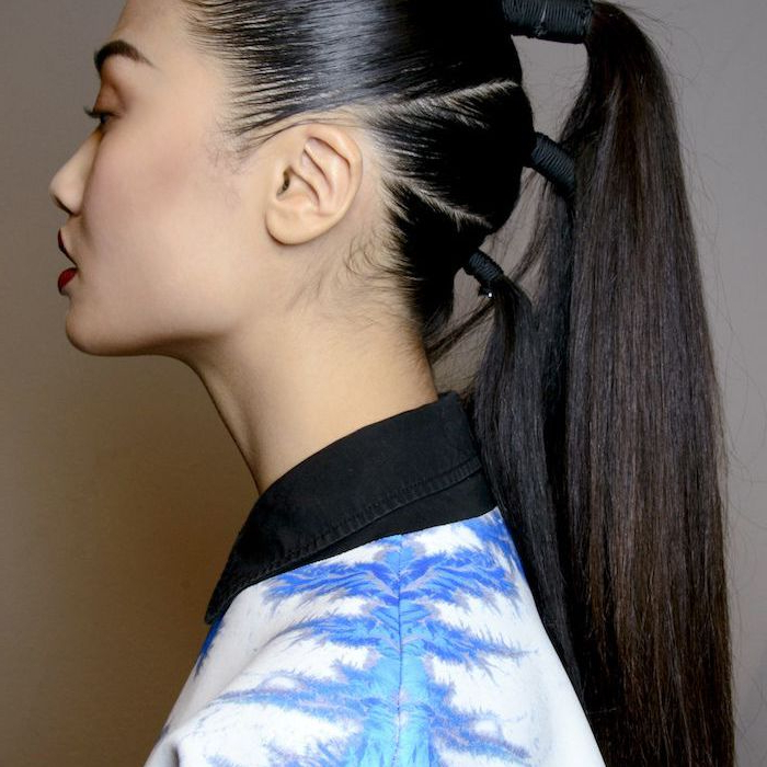 Long Ponytail Styles Inside High Looped Ponytail Hairstyles With Hair Wrap (View 15 of 25)