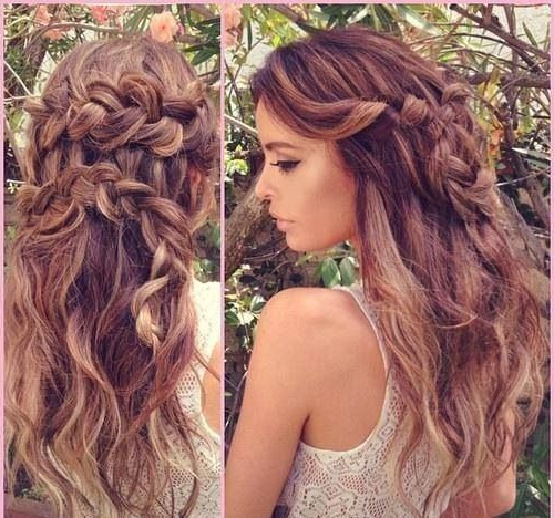 """Loose Side Twist Pinned Back Into A Large """"s"""" Braid With Within Loose Waves Hairstyles With Twisted Side (View 3 of 25)"""