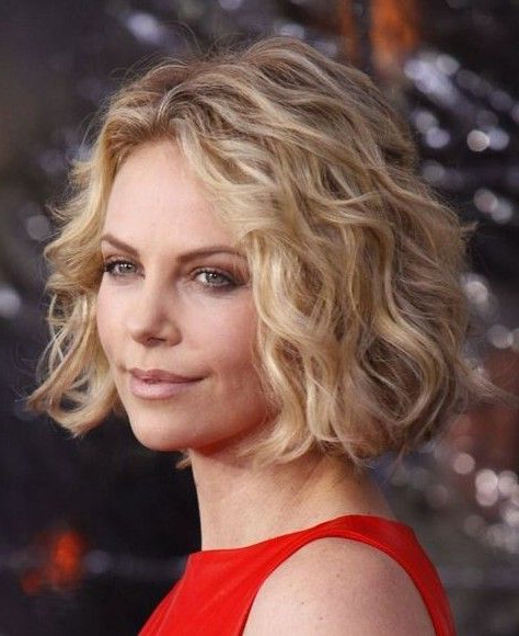 Loose Spiral Perm Short Hair | Charlize Theron Short Spiral Intended For Pixie Haircuts With Large Curls (View 10 of 25)