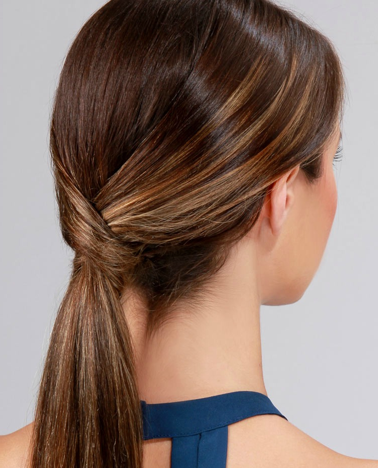 Lulus How To: Runway Ready Low Ponytail – Lulus Fashion Blog In High Looped Ponytail Hairstyles With Hair Wrap (View 12 of 25)