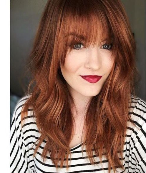 Featured Photo of Medium Length Red Hairstyles With Fringes