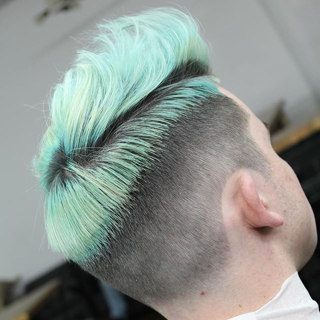 Men's Hair, Haircuts, Fade Haircuts, Short, Medium, Long Inside Turquoise Side Parted Mohawk Hairstyles (View 10 of 25)
