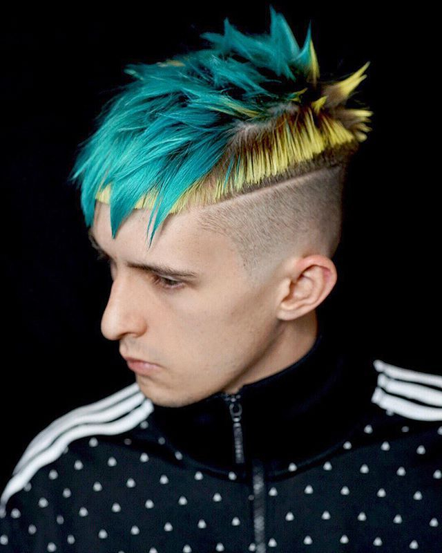 Men's Hair, Haircuts, Fade Haircuts, Short, Medium, Long Inside Turquoise Side Parted Mohawk Hairstyles (View 2 of 25)