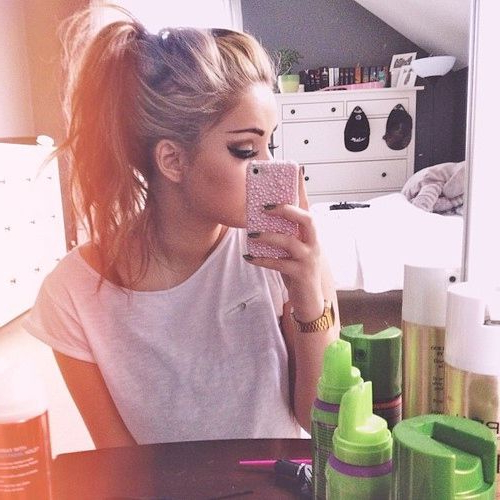 Messy, High, Ponytail (View 15 of 25)