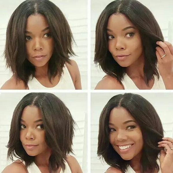 Featured Photo of Chin Length Bob Hairstyles With Middle Part