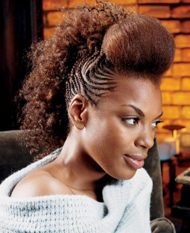 Mohawk Braids: 12 Braided Mohawk Hairstyles That Get Attention For Mohawk Hairstyles With Braided Bantu Knots (View 24 of 25)