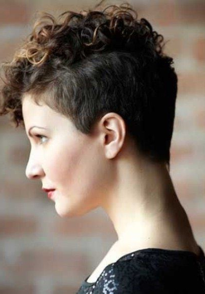 Mohawk Inspired Pixie Cut Short Haircuts For Curly Hair Throughout Pixie Mohawk Haircuts For Curly Hair (View 7 of 25)