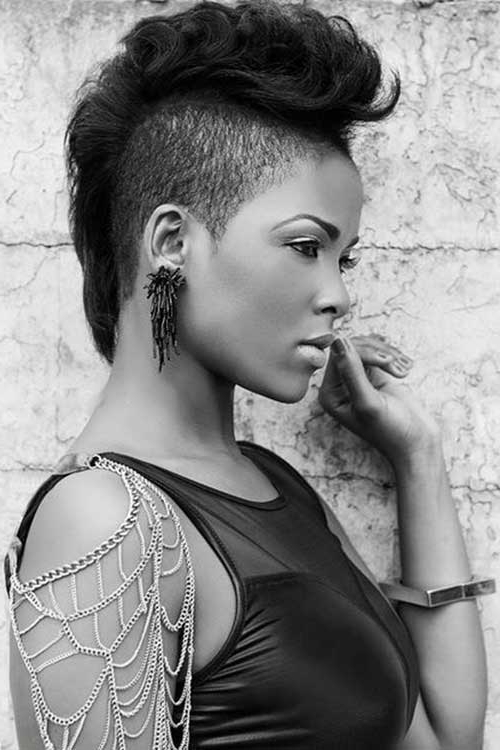 Mohawk Short Hairstyles For Black Women Regarding Mohawk Hairstyles With Pulled Up Sides (View 14 of 25)