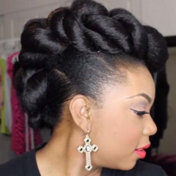 Mohawk Updo Hairstyle For Weddings | Natural Hair Styles Within Mohawk Updo Hairstyles For Women (View 3 of 25)