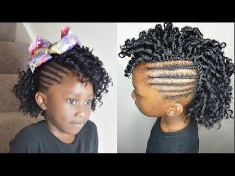 Natural 4C Hairstyles || Crochet Mohawk Braids throughout Braids And Curls Mohawk Hairstyles