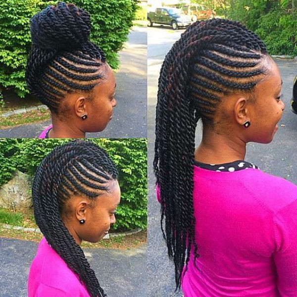 New Braided Mohawk Hairstyles For Natural Hair in Twist Braided Mohawk Hairstyles
