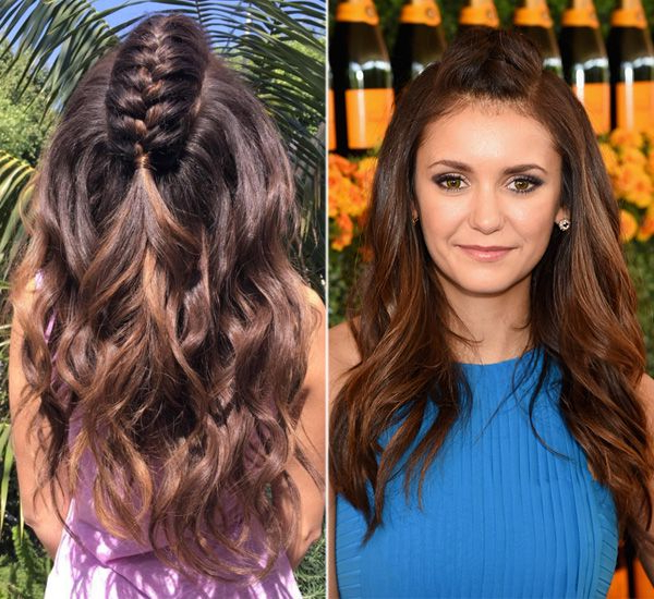 Nina Dobrev's Mohawk Braid — How To Get Her Cool Style with regard to Center Braid Mohawk Hairstyles