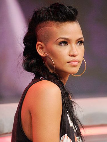 On Trend: Undercuts | Half Shaved Hair, Undercut Hairstyles in Cassie Roll Mohawk Hairstyles