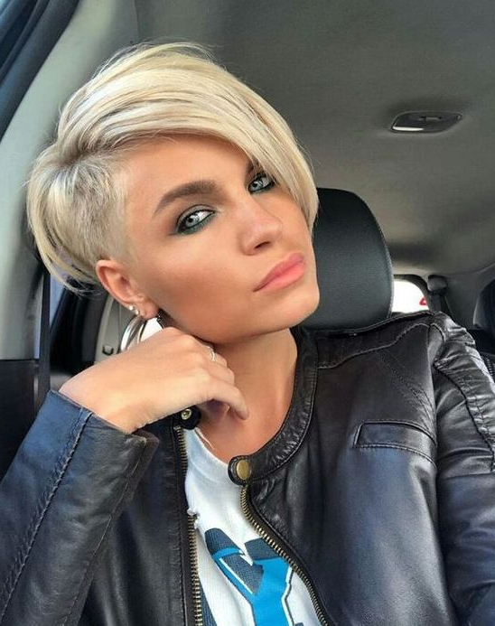 Picture Of An Asymmetrical Pixie Haircut In Blonde Is A Bold regarding Asymmetrical Pixie Haircuts
