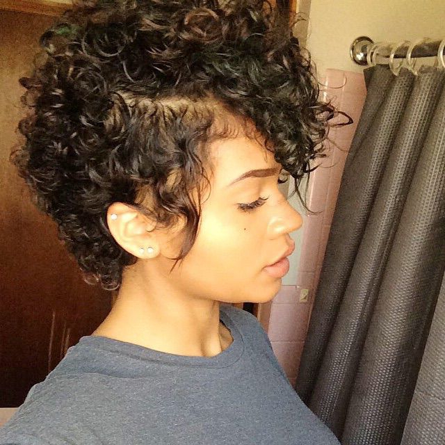 Pin On All Things Hair And Makeup with regard to Curly Faux Mohawk Hairstyles