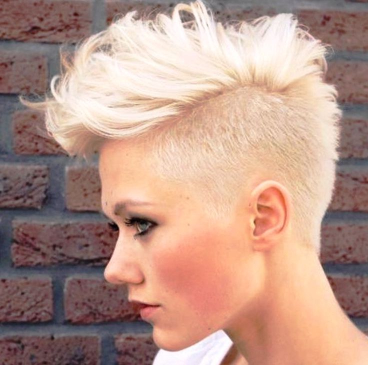 Pin On Am I Going To Chop Off My Hair? inside Asymmetrical Chop Mohawk Haircuts