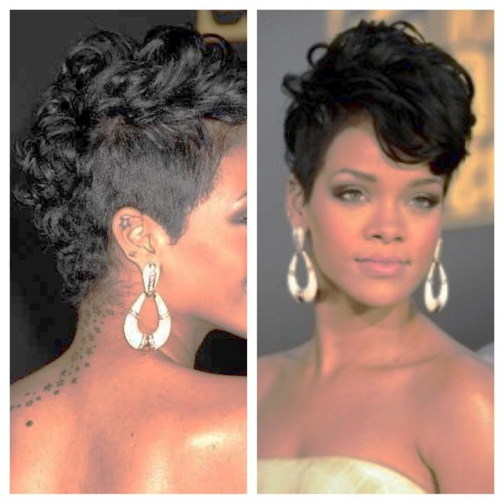 Pin On Awesome Hairstyles in Rihanna Black Curled Mohawk Hairstyles