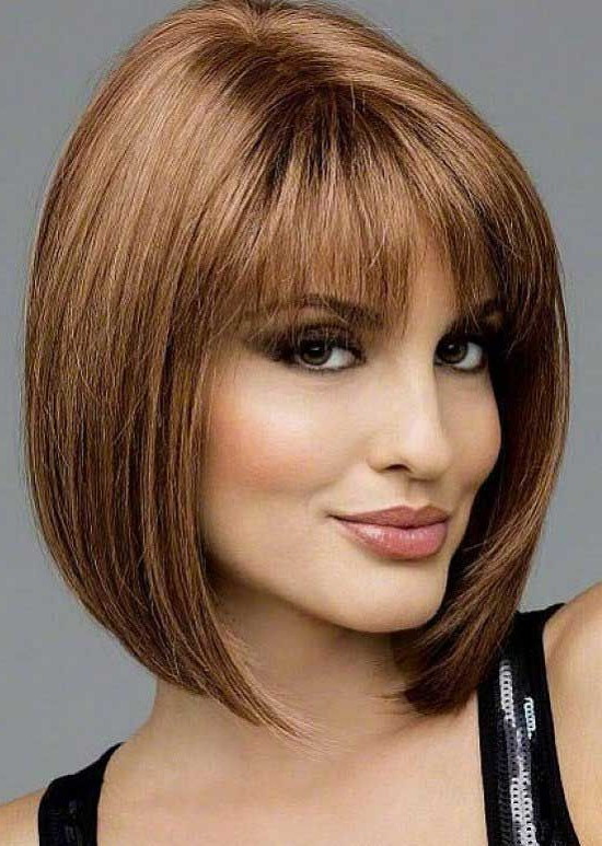 Pin On Bangs Hairstyles throughout Classy Bob Haircuts With Bangs