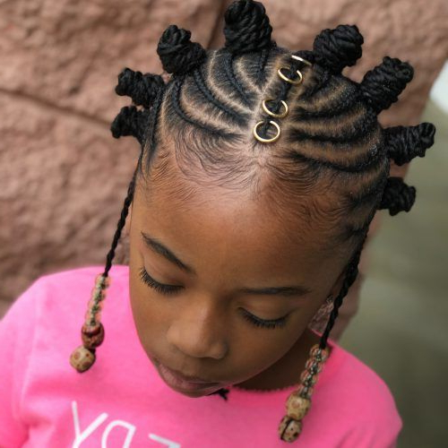 Pin On Bantu Knots Hairstyles Inside Mohawk Hairstyles With Braided Bantu Knots (View 3 of 25)