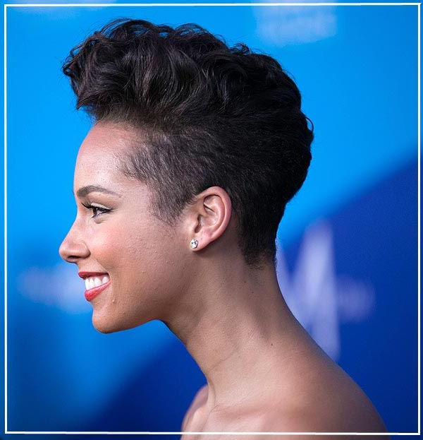 Pin On Beauty And Such within Alicia Keys Glamorous Mohawk Hairstyles