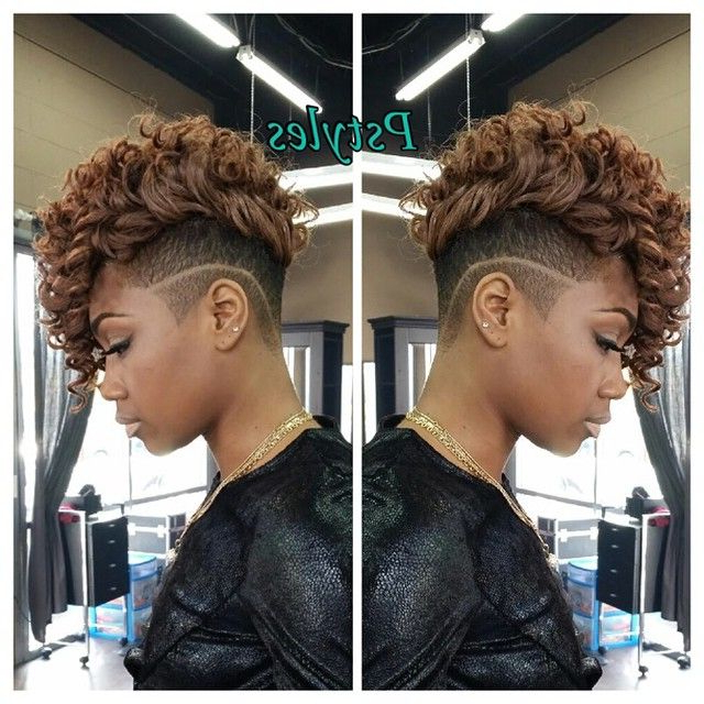 Pin On Black Hairstyles intended for Curly Weave Mohawk Haircuts