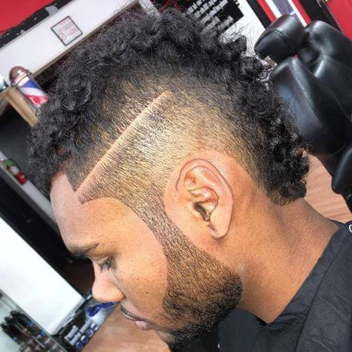 Pin On Black Men Haircuts regarding Mohawk Haircuts With Curls For A Feathered Bird