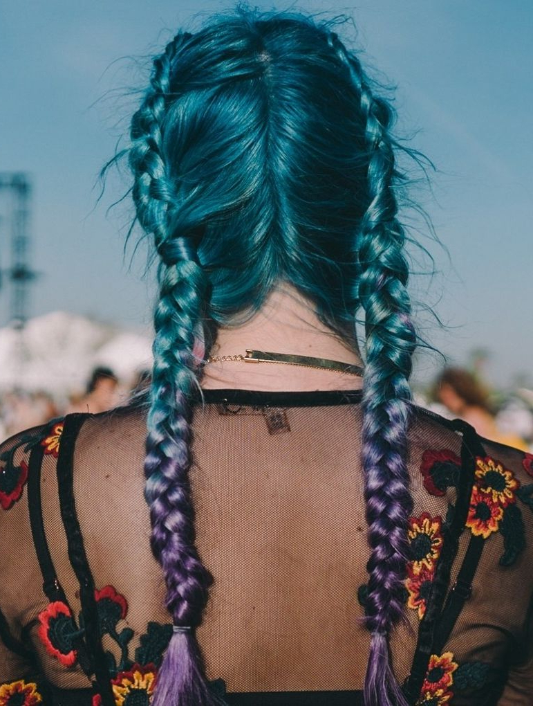 Pin On Braid Mania For Blue Braided Festival Hairstyles (View 17 of 25)