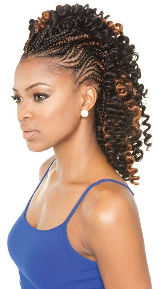 Pin On Braided Mohawk Hairstyle with regard to Curly Beach Mohawk Hairstyles