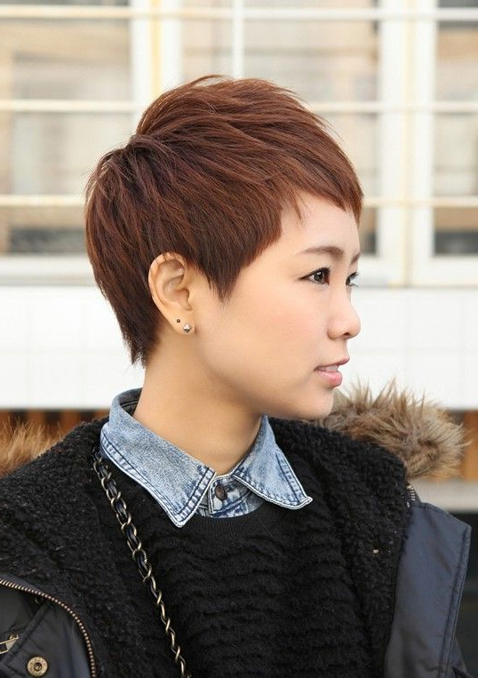 Pin On Chop Shop, No Joke. intended for Boyish Shag Asian Hairstyles