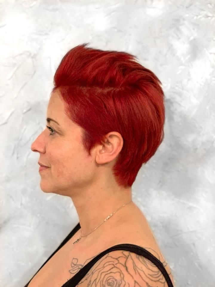 Pin On Color   Studio 32 within Edgy Red Hairstyles