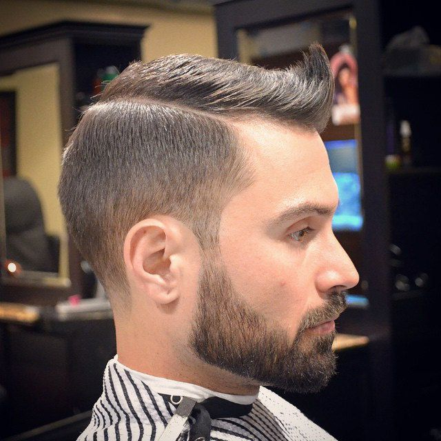 Pin On Fade Haircuts With Beard throughout Sharp And Clean Curly Mohawk Haircuts
