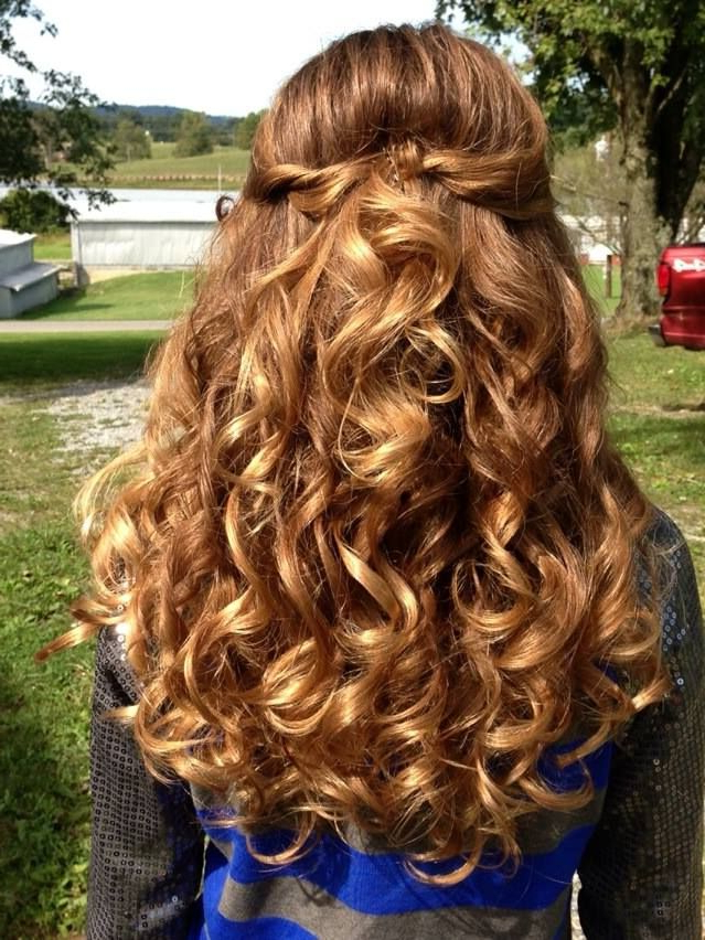 Pin On Formal Prom Pageant Curly Hair Within Loose Waves Hairstyles With Twisted Side (View 7 of 25)