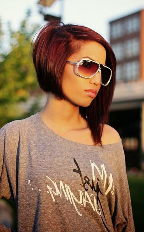 Pin On Hair Do Regarding Asymmetrical Bob Asian Hairstyles (View 15 of 25)