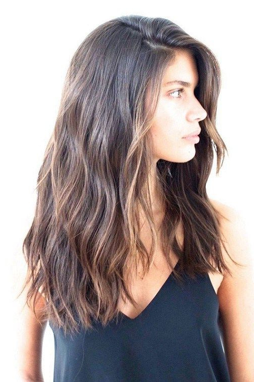 Pin On Hair in Straight Layered Hairstyles With Twisted Top