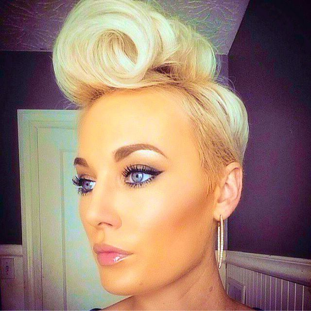 Pin On Hair inside Victory Roll Mohawk Hairstyles