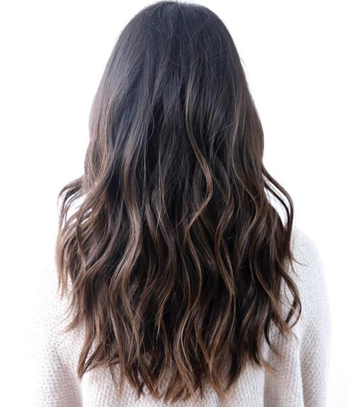 Pin On Hair intended for Long Waves Hairstyles With Subtle Highlights