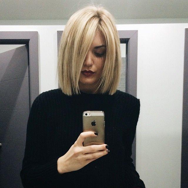 Pin On Hair & Make-Up regarding Blonde Blunt Haircuts Bob With Bangs