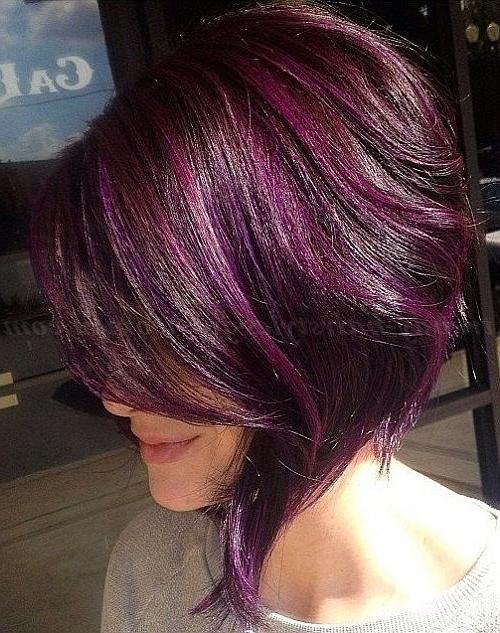Pin On Hair, Nails, & Makeup regarding Pink Asymmetrical A-Line Bob Hairstyles