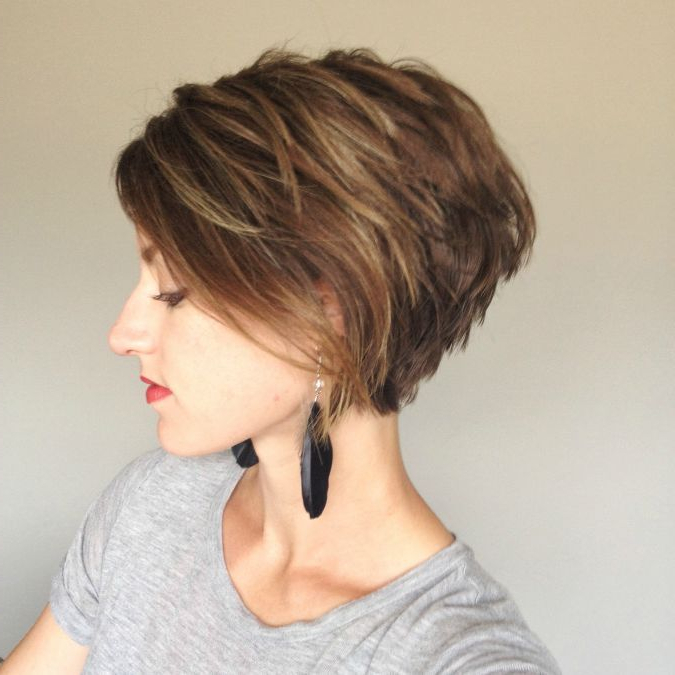 Pin On Hair pertaining to Messy Short Bob Hairstyles With Side-Swept Fringes