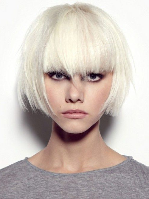 Pin On Hair Styles in Blonde Blunt Haircuts Bob With Bangs