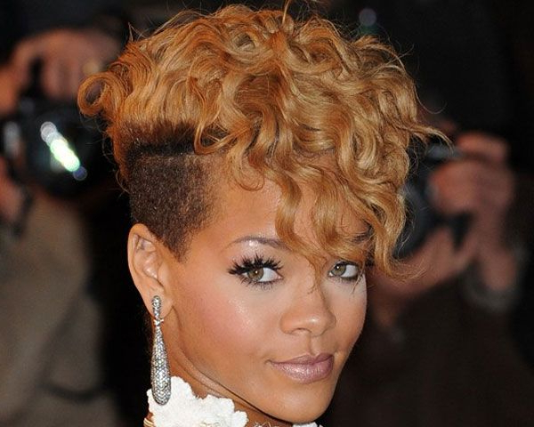 Pin On Hair Styles with regard to Rihanna Black Curled Mohawk Hairstyles