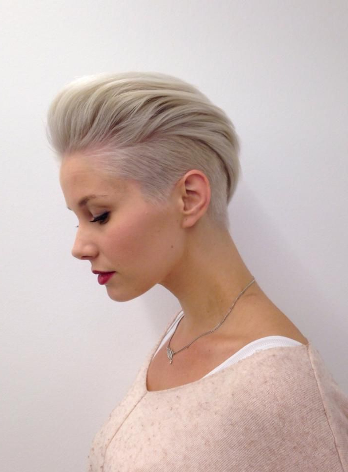 Pin On Hair throughout Classic Blonde Mohawk Hairstyles For Women