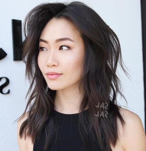 Featured Photo of Asian Medium Hairstyles With Textured Waves