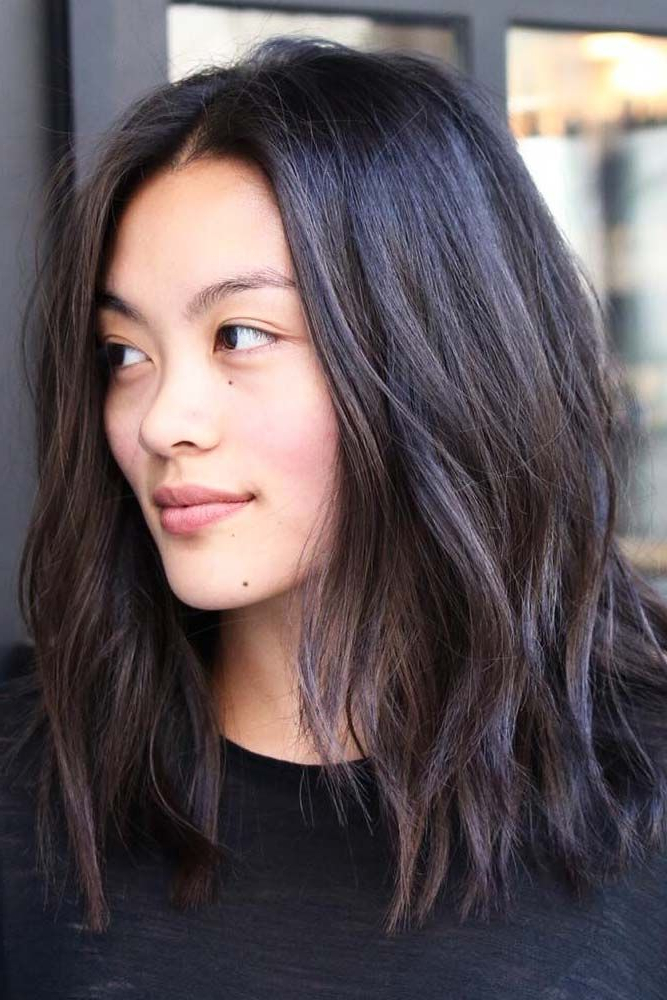Pin On Hair Within Asian Medium Hairstyles With Textured Waves (View 7 of 25)
