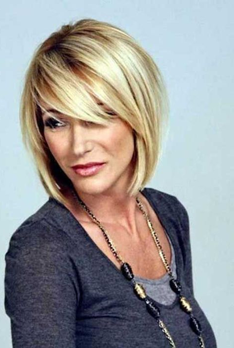 Pin On Hair Within Blonde Bob Haircuts With Side Bangs (View 14 of 25)