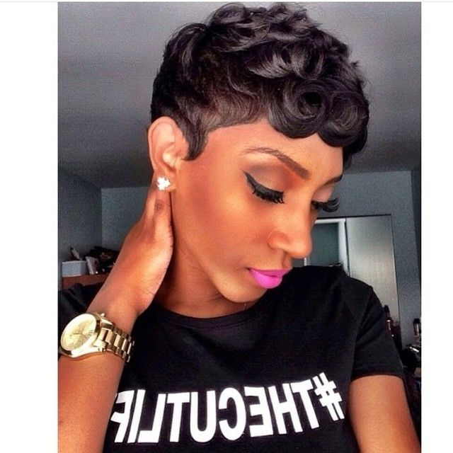 Pin On Haircuts For Black Women regarding Short Pixie Haircuts With Relaxed Curls
