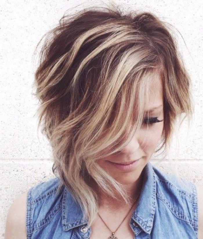 Pin On Hairstyles For Men And Women Within Wavy Asymmetric Bob Hairstyles With Short Hair At One Side (View 5 of 25)