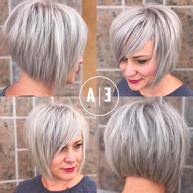 Pin On Hairstyles For Moi? with regard to Silver Short Bob Haircuts