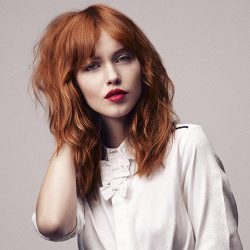 Pin On Hairstyles & Haircuts for Medium-Length Red Hairstyles With Fringes